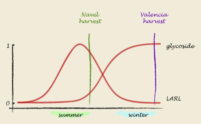 LARL variation over time